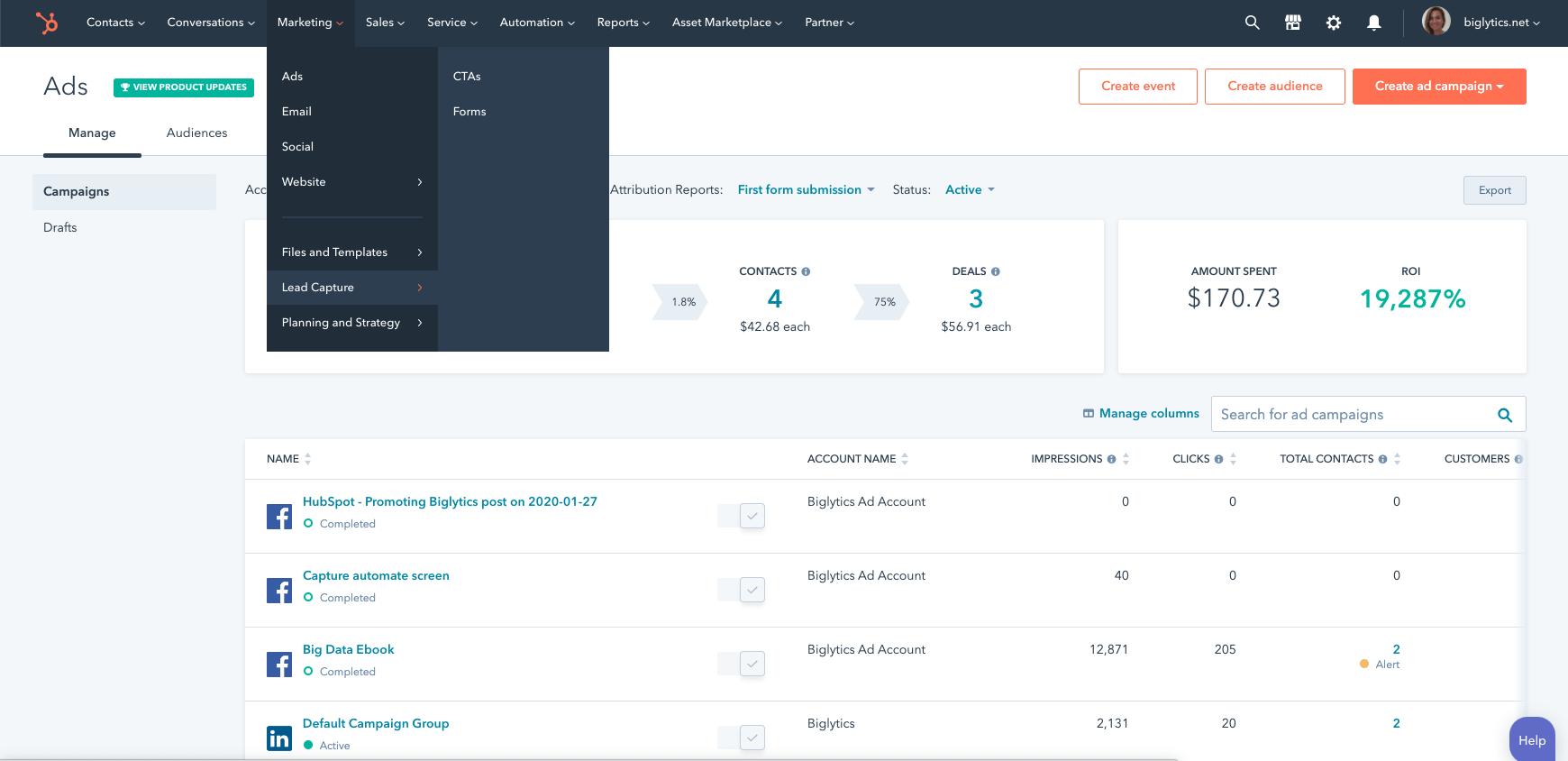 HubSpot Marketing Hub onboarding